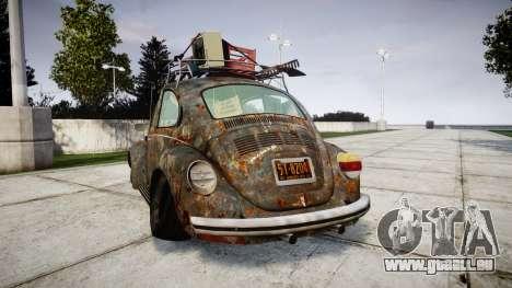 Volkswagen Beetle rust für GTA 4 hinten links Ansicht