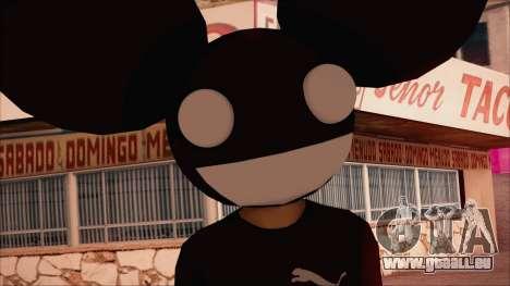 Deadmau5 Skin pour GTA San Andreas troisième écran