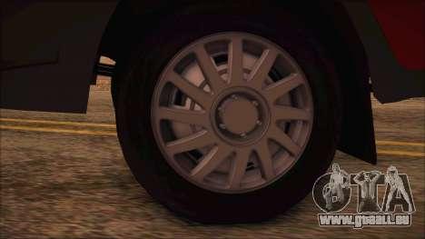 GAZel 3302 D'Affaires pour GTA San Andreas sur la vue arrière gauche