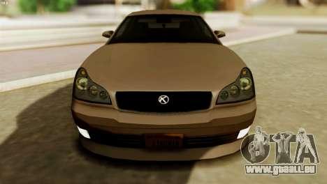 GTA 5 Intruder Tuning Bumpers für GTA San Andreas rechten Ansicht