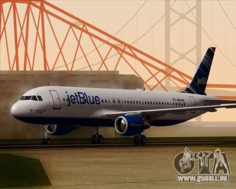 Airbus A320-200 JetBlue Airways pour GTA San Andreas laissé vue
