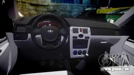VAZ-2170 Priora roues en alliage pour GTA 4 est une vue de l'intérieur