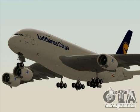 Airbus A380-800F Lufthansa Cargo für GTA San Andreas Innenansicht