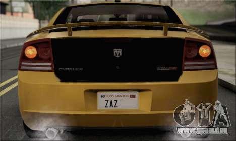 Dodge Charger SuperBee pour GTA San Andreas vue de droite