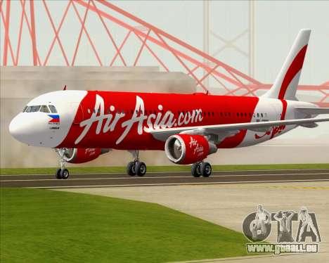 Airbus A320-200 Air Asia Philippines pour GTA San Andreas laissé vue