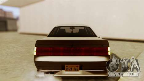 GTA 5 Intruder Tuning Bumpers pour GTA San Andreas vue arrière
