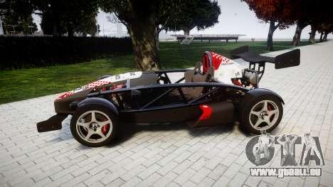 Ariel Atom V8 2010 [RIV] v1.1 Rosso & Bianco für GTA 4 linke Ansicht