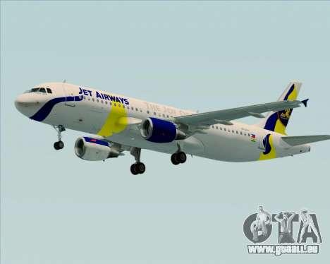 Airbus A320-200 Jet Airways für GTA San Andreas Seitenansicht