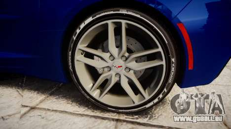 Chevrolet Corvette C7 Stingray 2014 v2.0 TireYA3 pour GTA 4 Vue arrière