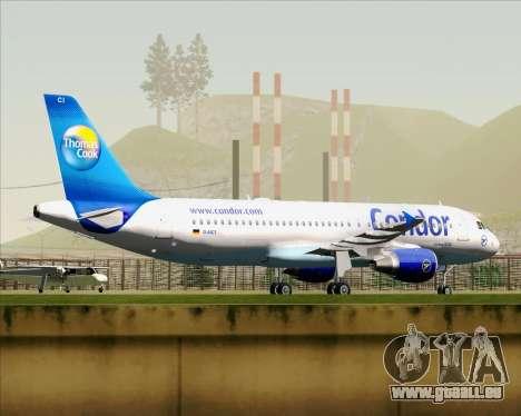 Airbus A320-200 Condor für GTA San Andreas Innenansicht