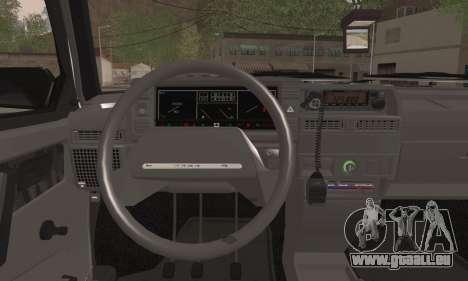 VAZ 2109 PPP pour GTA San Andreas sur la vue arrière gauche