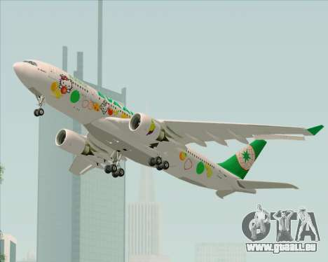Airbus A330-200 EVA Air (Hello Kitty) pour GTA San Andreas vue intérieure