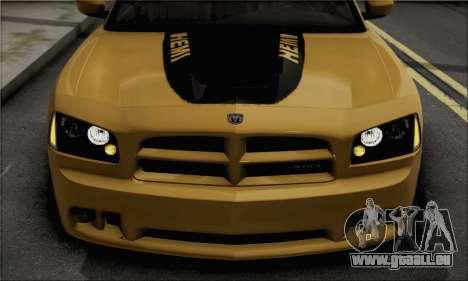 Dodge Charger SuperBee pour GTA San Andreas sur la vue arrière gauche