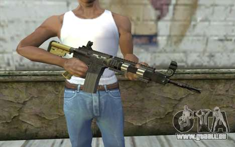 M4 MGS Iron Sight v1 für GTA San Andreas dritten Screenshot