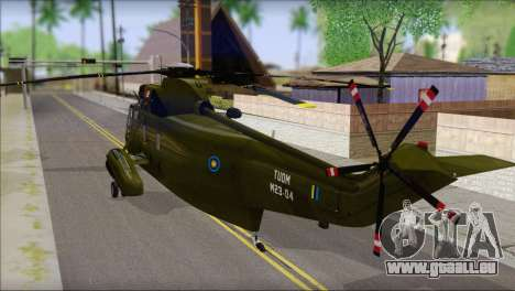 Helicopter Nuri Malaysia Mod (Seaking) pour GTA San Andreas laissé vue