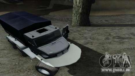 ZIL Kerzhak 6x6 pour GTA San Andreas vue intérieure