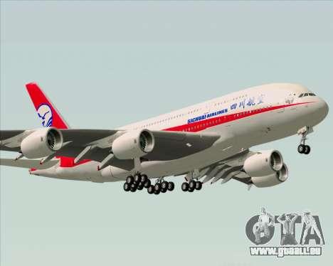 Airbus A380-800 Sichuan Airlines pour GTA San Andreas vue intérieure