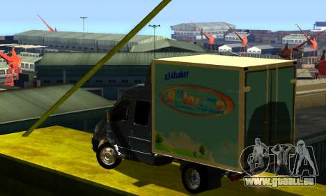 GAZelle 33023 pour GTA San Andreas vue de droite