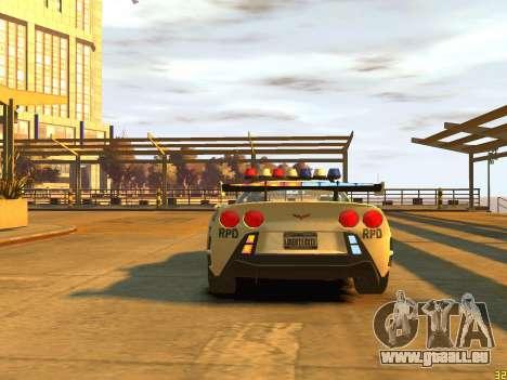Chevrolet Corvette Z06 Police für GTA 4 rechte Ansicht