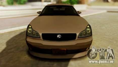 GTA 5 Intruder Tuning Bumpers pour GTA San Andreas sur la vue arrière gauche