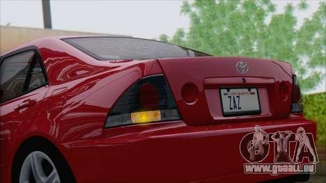 Toyota Altezza (RS200) 2004 (IVF) pour GTA San Andreas vue intérieure