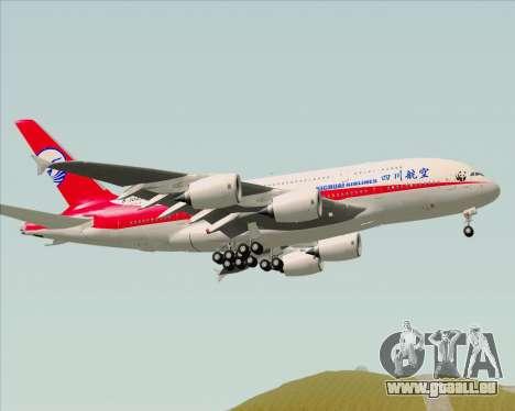 Airbus A380-800 Sichuan Airlines für GTA San Andreas Rückansicht