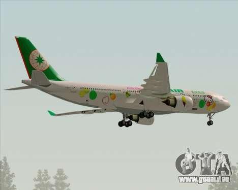 Airbus A330-200 EVA Air (Hello Kitty) für GTA San Andreas obere Ansicht