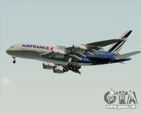 Airbus A380-800 Air France für GTA San Andreas obere Ansicht