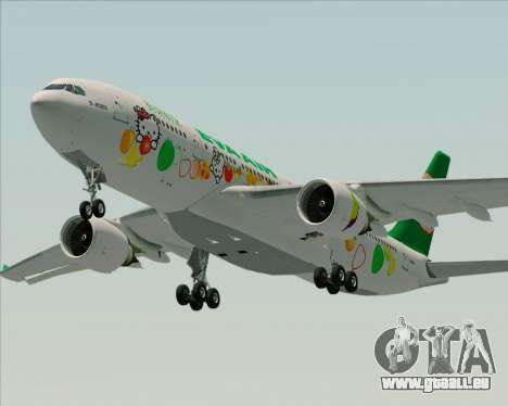 Airbus A330-200 EVA Air (Hello Kitty) für GTA San Andreas Motor