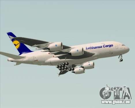 Airbus A380-800F Lufthansa Cargo für GTA San Andreas Rückansicht