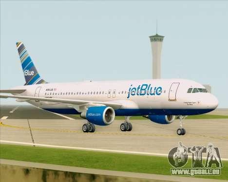 Airbus A320-200 JetBlue Airways pour GTA San Andreas vue de dessus