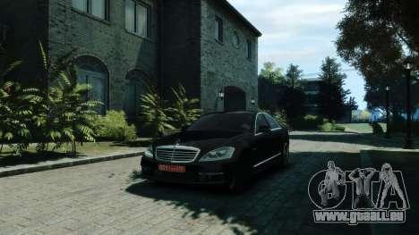 Mercedes-Benz W221 S63 AMG pour GTA 4