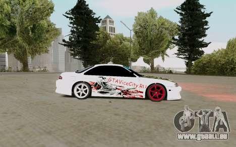 Nissan Silvia S14 VCDT pour GTA San Andreas sur la vue arrière gauche