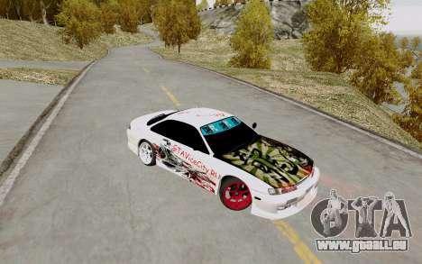 Nissan Silvia S14 VCDT pour GTA San Andreas vue arrière