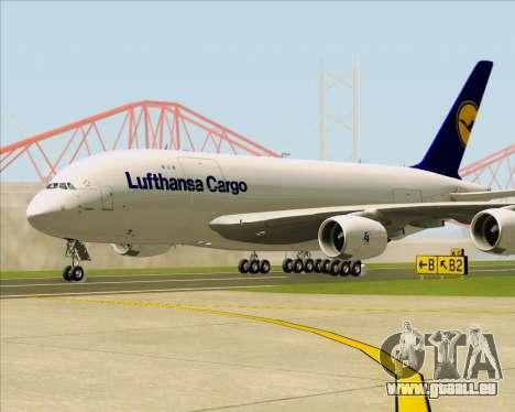 Airbus A380-800F Lufthansa Cargo für GTA San Andreas linke Ansicht