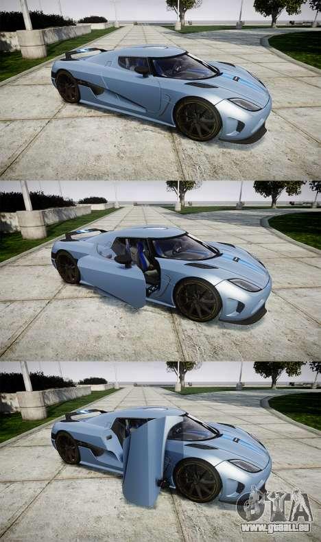 Koenigsegg Agera 2011 [EPM] [Update] für GTA 4 Seitenansicht