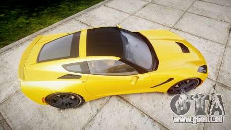 Chevrolet Corvette C7 Stingray 2014 v2.0 TireCon pour GTA 4 est un droit