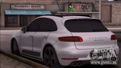Porsche Macan pour GTA San Andreas sur la vue arrière gauche