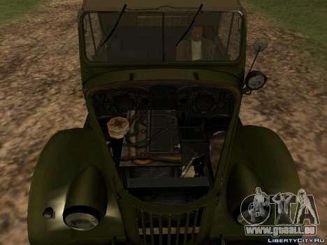 GAZ-69 für GTA San Andreas Rückansicht