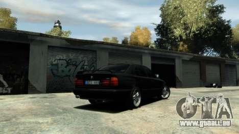 BMW M5 E34 1995 pour GTA 4 Vue arrière
