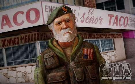 Bill from Left 4 Dead Beta für GTA San Andreas dritten Screenshot