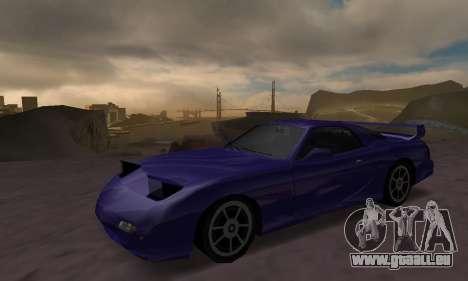 Beta ZR-350 für GTA San Andreas Rückansicht