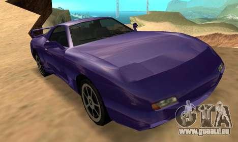 Beta ZR-350 für GTA San Andreas obere Ansicht