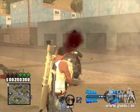 C-HUD Big Cull pour GTA San Andreas troisième écran