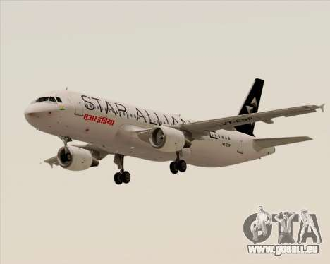 Airbus A320-200 Air India (Star Alliance Livery) für GTA San Andreas Seitenansicht