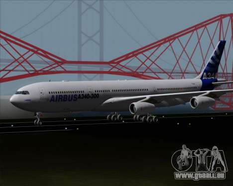 Airbus A340-300 Airbus S A S House Livery für GTA San Andreas linke Ansicht