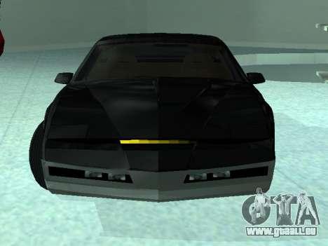 Pontiac Trans-Am K. A. R. R. pour GTA San Andreas sur la vue arrière gauche