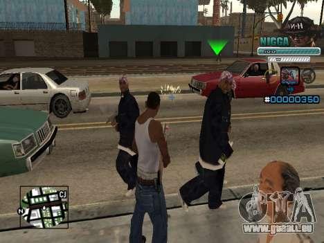 C-HUD Mann in einem Cap für GTA San Andreas zweiten Screenshot