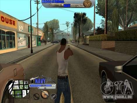 C-HUD Navy - ВМФ für GTA San Andreas dritten Screenshot