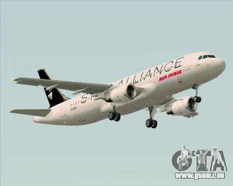 Airbus A320-200 Air India (Star Alliance Livery) für GTA San Andreas Rückansicht